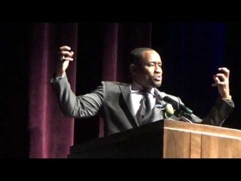 Marc Lamont Hill gives powerful speech on Martin Luther King Jr. Day.