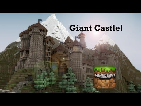Giant Castle In Minecraft Pocket Edition!
