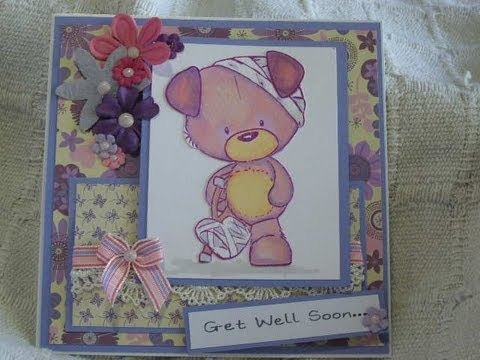 Tutorial, How to make a Get Well Card - YouTube