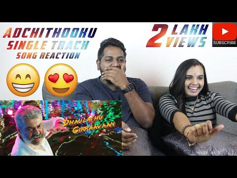 Adchithooku Song Reaction | Malaysian Indian Couple | Viswasam | Thala | Ajith Kumar
