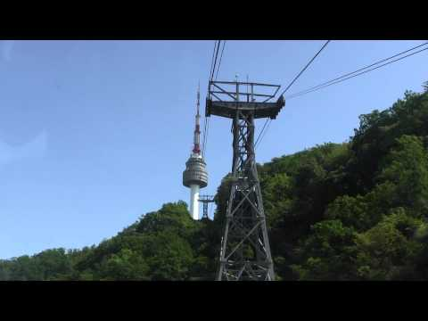 Namsan Cable Car Ride to N Seoul Tower (N서울타워)