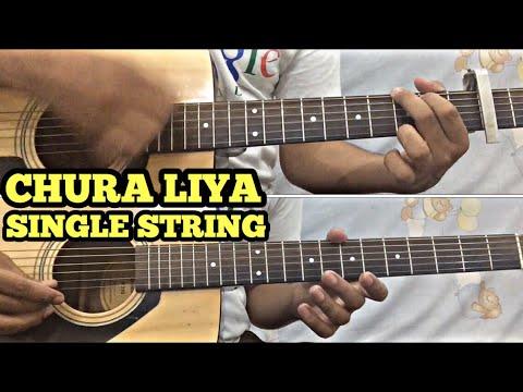 Chura Liya Hai Tumne Jo Dil Ko Guitar Tabs/Lead Lesson | SINGLE STRING | Easy For Beginners | FuZaiL