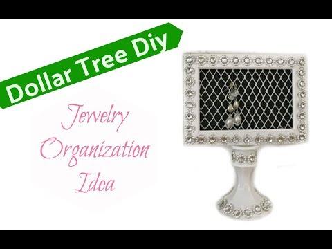 Dollar Tree Diy   Jewelry Organizer
