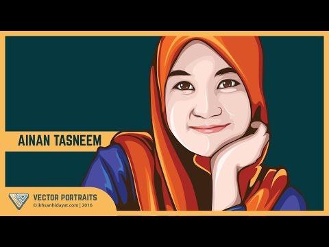 #01 - Tutorial vector portrait using Adobe Illustrator _ Ainan Tasneem - 동영상