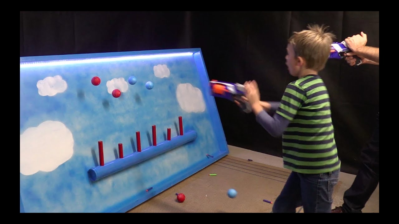 Floating balls nerf gun target shooting range carnival game diy floating balls nerf gun target shooting range carnival game diy make science fun solutioingenieria Gallery