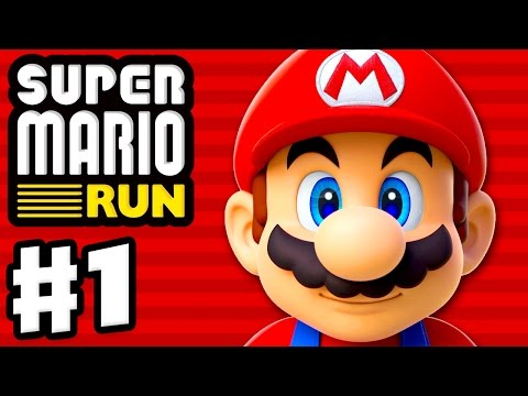 Super Mario Run - Gameplay Walkthrough Part 1 - World 1, Toad Rally, and Kingdom Builder! (iOS)