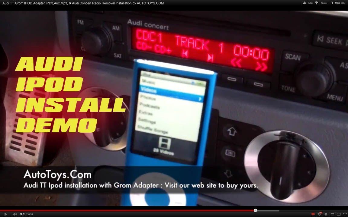 Audi Tt Grom Ipod Adapter Ipd3 Aux Mp3 Amp Audi Concert