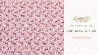 How To: Crochet The Mini Bean Stitch | Easy Tutorial by Hopeful Honey