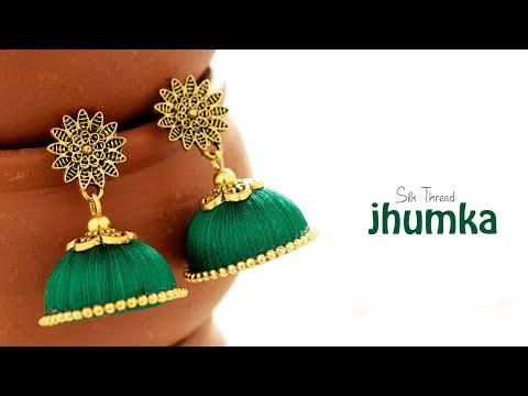 DIY Silk Thread Jhumka