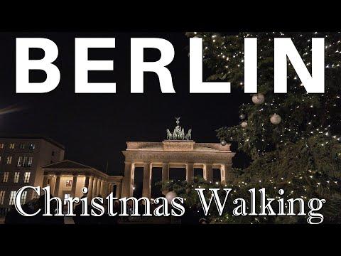 Berlin Christmas Walking 🎄[4k] Friedrichstraße, Unter Den Linden, Brandenburg Gate (December 2019)