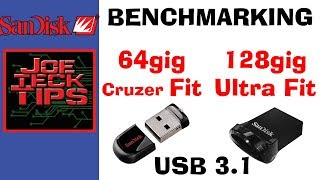 Sandisk Fit & Ultra Fit | Benchmarking | JoeteckTips