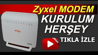Zyxel VMG3312-B10B  Modem Kurulum - 2016
