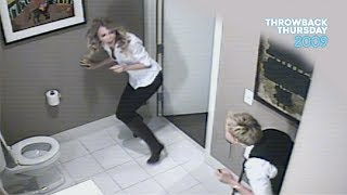 #TBT Ellen Scares Taylor Swift in the Bathroom