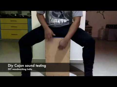 DIY Cajon Testing | DIY woodworking India