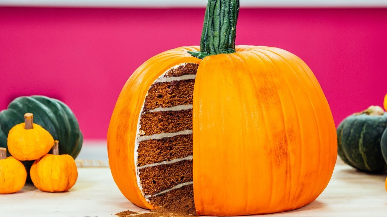 Pumpkin CAKE, Starbucks pumpkin spice latte & MORE fall flavors | How To Cake It Step By Step