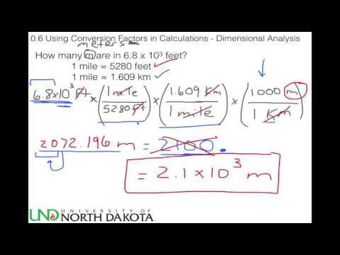 0.6 Using Conversion Factors in Calculations - Dimensional Analysis