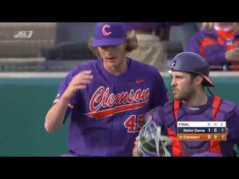 new arrival 9515c 9cfb2 Clemson Baseball || Notre Dame Game Highlights - 3/16/19