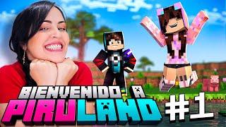 Hoy Comienzo una NUEVA VIDA! 🔥 Bienvenido a PIRULAND en Minecraft! 😂 Sandra Cires Play