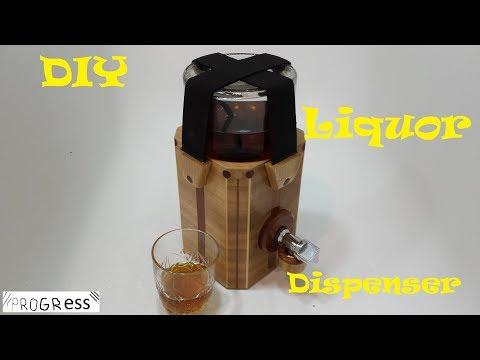 Wooden Liquor Dispenser
