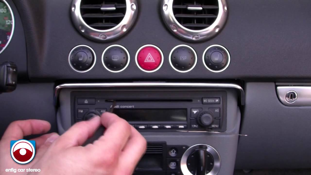 Audi Tt Radio Removal 2002 2006 Youtube