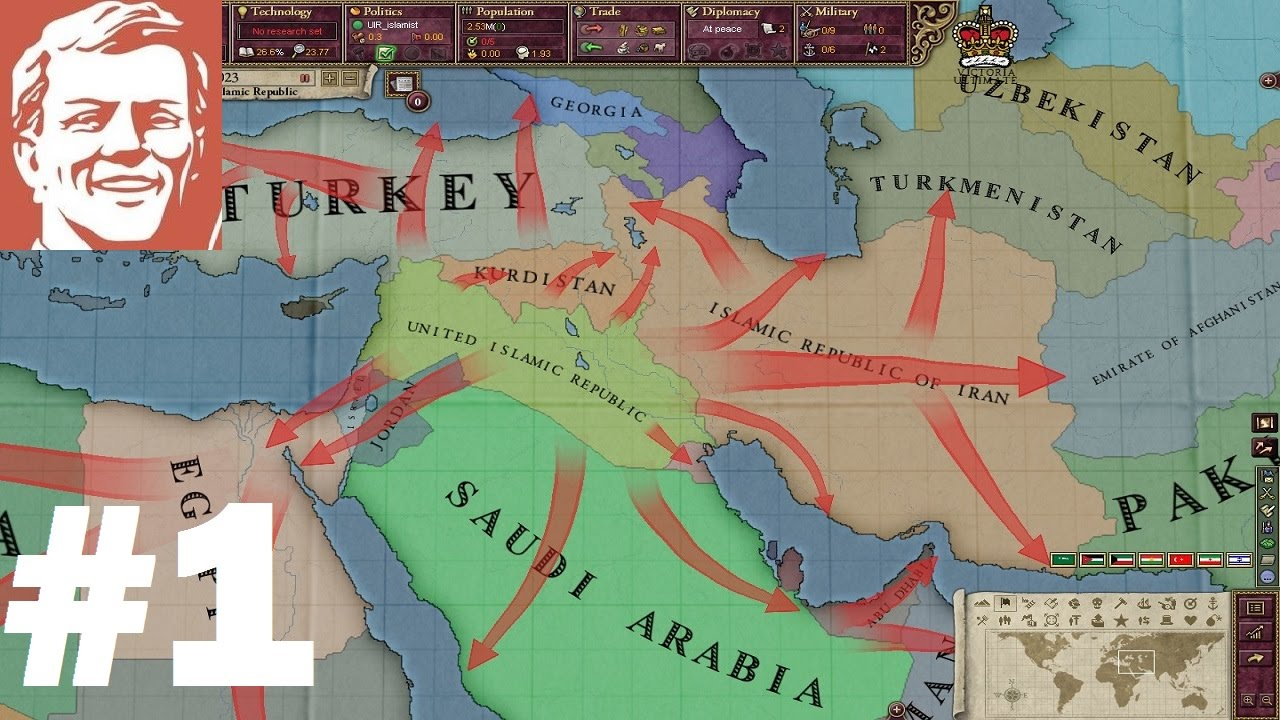 Victoria 2 States Map.Tkr Victoria 2 Ultimate Mod As Isis Part 1 The Beginning Youtube