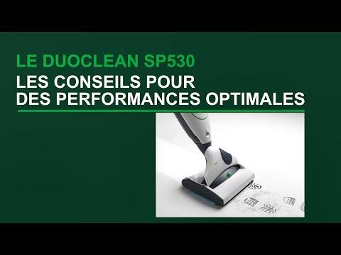 DuoClean SP530 - Conseils pour des performances optimales