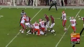 Deshaun Watson fumbles the snap, and Alabama recovers!