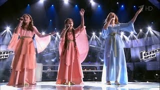 Best battle of The Voice Kids. Renata, Kamilla and Saida  - «Hallelujah» (Russian, English, Arabic)