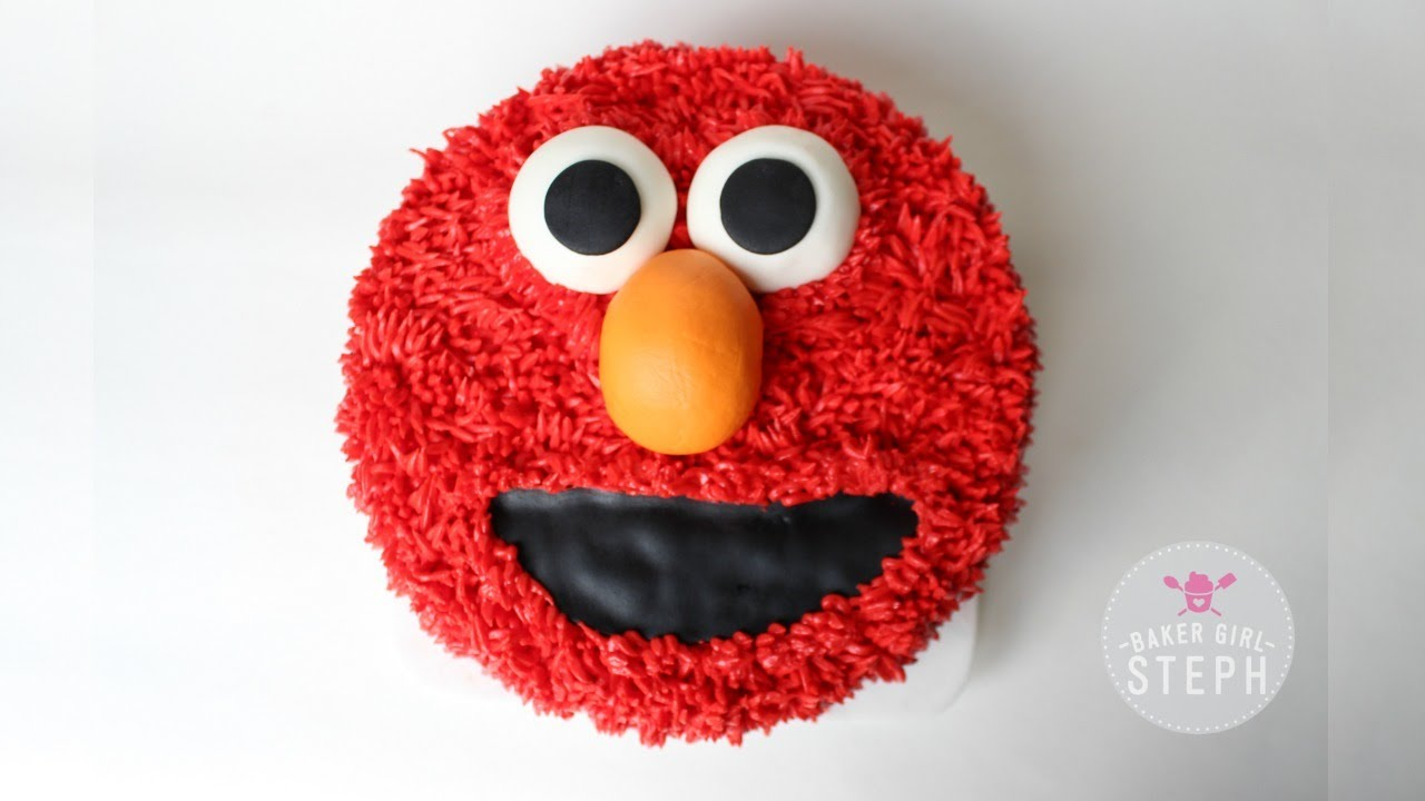 HOW TO MAKE AN ELMO CAKE BAKER GIRL STEPH YouTube