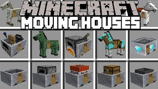 Minecraft MOVING HOUSES MOD! | SPAWN INSTANT MOVING STRUCTURES & BU...