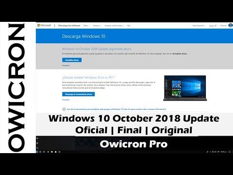 descargar iso windows 10 october 2018 update