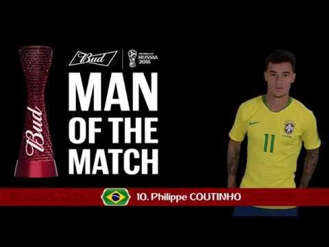 Philippe COUTINHO (Brazil) - Man of the Match - MATCH 9