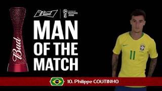 Philippe COUTINHO (BRA) - Man of the Match - MATCH 9
