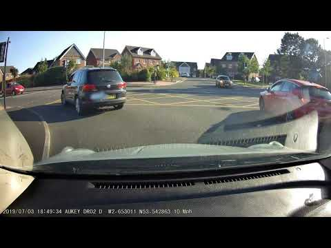 STOLEN FORD FIESTA ST NEARLY CRASHES INTO OUR CAR IN WIGAN Dannydashcam