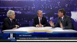 BOLSONARO: ENTREVISTA AO PROGRAMA DIRETO DE BRASÍLIA.