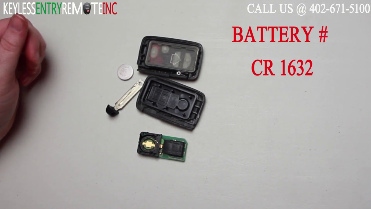 How To Replace Toyota Prius Key Fob Battery 2010 2011 2012 2013 2014