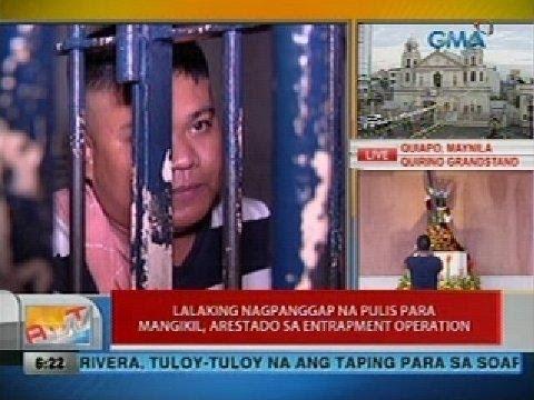 UB: Lalaking nagpanggap na pulis para mangikil, arestado sa entrapment operation