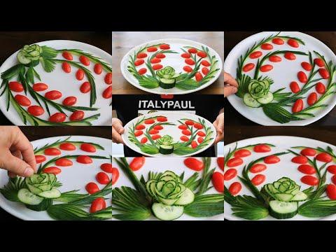 Super Cucumber Rose Decoration Ideas - Cucumber Carving Garnish