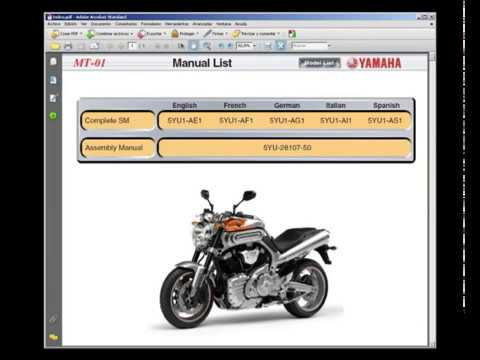 Yamaha MT01  Service Manual  Taller  Manuel Reparation