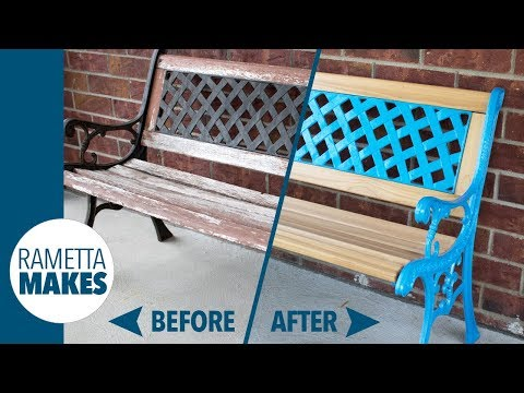 How to Restore an Outdoor Park Sitting Bench // DIY