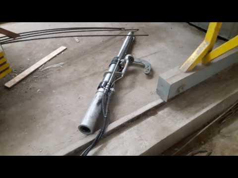 Домкрат гидравлический для натяжения стальных канатов и арматуры 250 кН ход 350мм