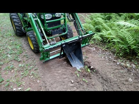 Trenching With The Artillian Front Hoe Bucket Youtube