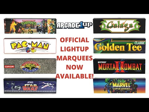 Arcade1up: Official Light up Marquees now for sale! from PsykoGamer