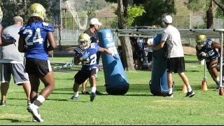 UCLA Football Training Camp - Running Back/Full Back Drills