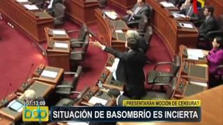 Congreso: situación del ministro Carlos Basombrío aún es incierta