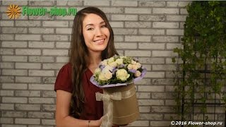 Букет в шляпной коробке «Блаженство»(Вас приветствует служба доставки цветов Flower-shop.ru! Букет «Блаженство» - это красивая новинка от флористов..., 2016-08-01T10:50:17.000Z)