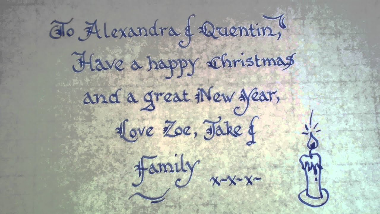 How To Write Calligraphy For Christmas Thanksgiving Greeting Cards