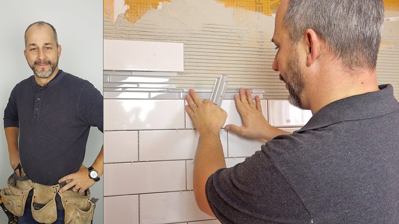 Download DIY Subway Tile Shower with Glass Mosaic