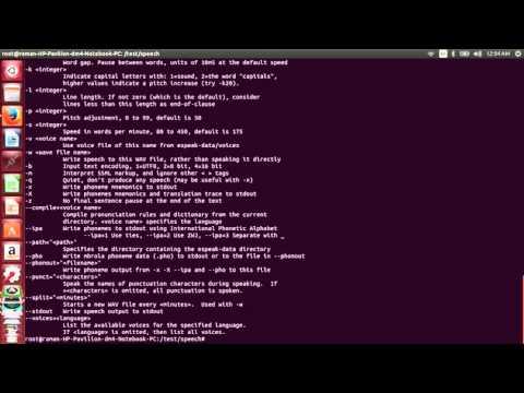 Text to Speech on Ubuntu-espeak - YouTube