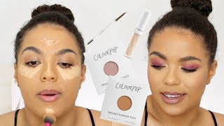Colourpop Try On Haul + Giveaway! No Filter Concealers, Brow Boss, Pressed Face